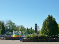 Francysk Skaryna Statue
