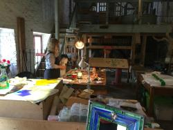 Grist mill and Stainglass artist in-residence