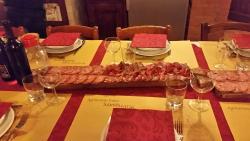 Homemade salami and procuitto