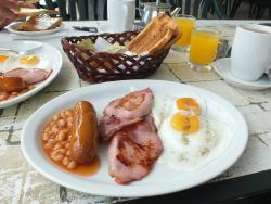 Livas Hotel Apartments (2015) - Full English breakfast at the pool bar restaurant