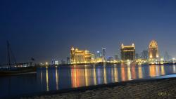 Saint Regis Doha at night