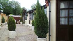 Rooms in annexe at the rear of hotel - enclosed very safe area