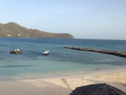 peaceful views overlooking the beach