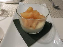 pannacotta with rum pineapple