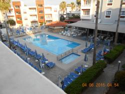 Pool view from room 327 block C