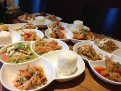Image of  the several  Nadon  Thai( lunch time )Tapas menus that we tried .