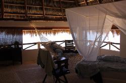 Upper sleeping area