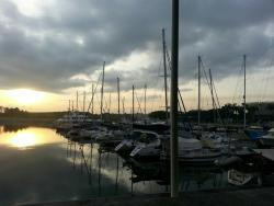 Harbour view at sunrise