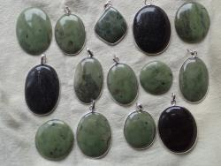 Tasmanian Jade cabachons and pendants from the West Coast