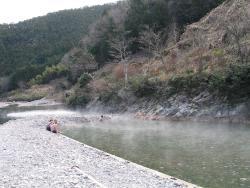 冬季限定の大露天風呂