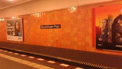 """The U-Bahn station, one of the former """"ghost stations"""" during the Cold War."""