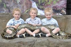 A photo with Fluffy our Burmese python makes a GREAT family photo!