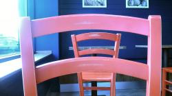 hard wooden chairs