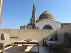 Die Dachterrasse, ideal für einen Sundowner...