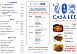 Casa Lee Chinese Food
