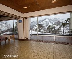 Entrance at the Madarao Kogen Hotel