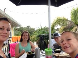Enjoyed most meals on our patio area