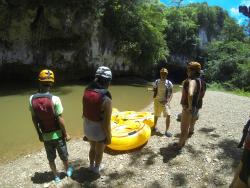 Cave Tubing with Brandon!  Love the guy!