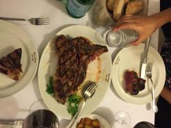 Florentine steak for two