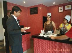 Mr. Santosh Kumar- enjoying guests' cooking