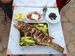 """Fish in taverna """"Kalami""""."""