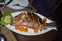 Fish served at Yoma Cherry Lodge