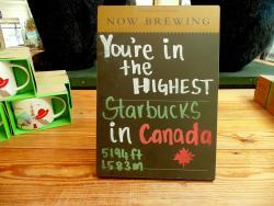 Starbucks @ Sulfur Mountain