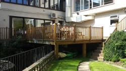 Hotel decking-  bar and restaurant area
