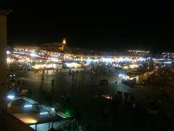 at night in marrakech