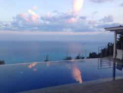 Sunrise ....reflected through the clouds on the pool