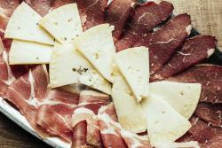 Cheese and prosciutto