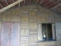 Bamboo house room entry