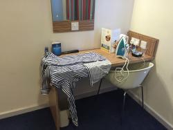 Makeshift Ironing Board - slight fire risk