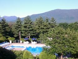 View from our room of the outdoor pool
