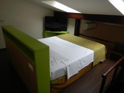 Upstairs loft bed