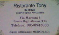 Ristorante Tony