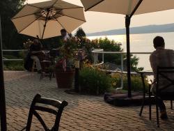 Lake view of jazz band