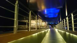 The SkyBlu Bar at night