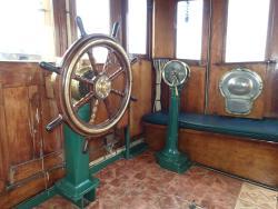 Wheelhouse of the Ulundi coal fired tug