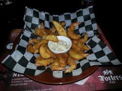 Beer batter shrimp