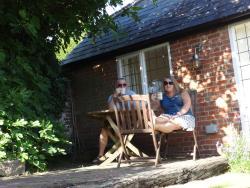 outside sun trap sitting area.
