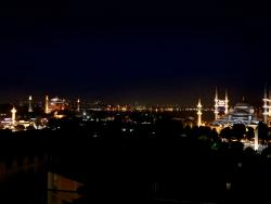 Evening View from Fine Dine Istanbul