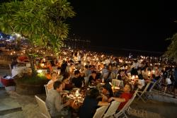 Diners At the Beach