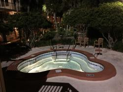 These are the pool areas and the inside of front desk