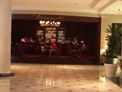 The Club as seen from the lobby of the Belmond Hotel