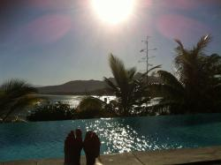 View from my sun lounger by the pool