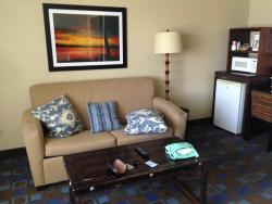 Living room and refrigerator
