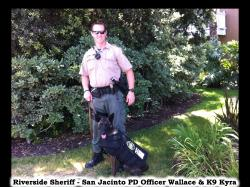 Donations provided three bulletproof K9 Armor vests to local K9 Heroes Riverside Sheriff - San J