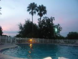 Early evening at the pool