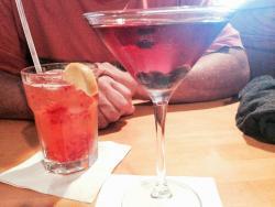 Hey Now Drink and Maine Bluetini
